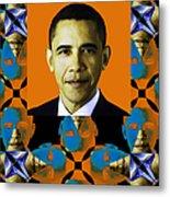 Obama Abstract Window 20130202verticalp28 Metal Print