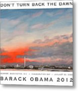 Obama Campaign Poster 2012 Metal Print by William Van Doren