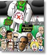 Obama Care Frankenstein Balloon Metal Print