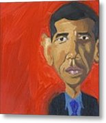 Obama Caricature Metal Print by Isaac Walker