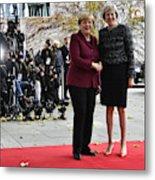 Obama Meets With European Leaders In Berlin Metal Print