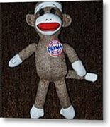 Obama Sock Monkey Metal Print
