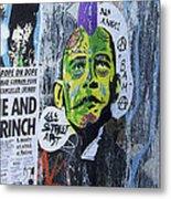 Obama The Grinch Metal Print
