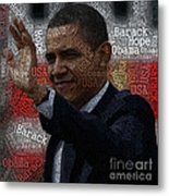 Obama Usa Typography Design Metal Print