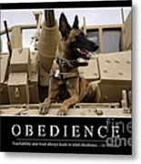 Obedience Inspirational Quote Metal Print
