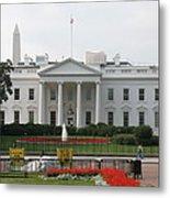 Obelisk And White House Metal Print