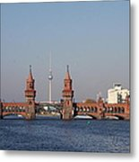 Oberbaum Bridge - Berlin Metal Print