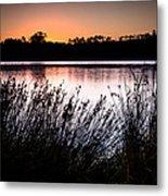Obidos Lagoon Sunrise Metal Print