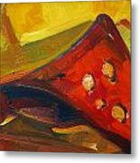 Object In Red Metal Print