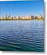 Obolon Skyline Close To The Dnieper River In Kiev Metal Print