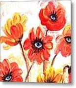 Observant Flowers 101 Metal Print