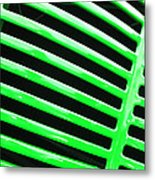 Observe Green Metal Print