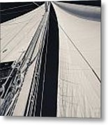 Obsession Sails 2 Black And White Metal Print