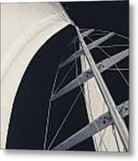 Obsession Sails 5 Black And White Metal Print