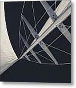 Obsession Sails 7 Black And White Metal Print