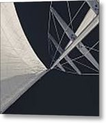 Obsession Sails 8 Black And White Metal Print