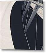 Obsession Sails 9 Black And White Metal Print