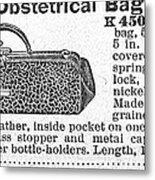 Obstetrical Bag, C1900 Metal Print