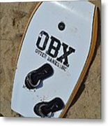 Obx Outer Banks Surf Board Metal Print