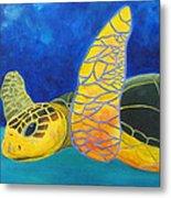 Obx Turtle Metal Print