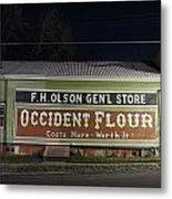 Occident Flour Sign Metal Print
