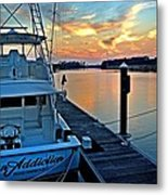 Ocean Addiction Sunset Metal Print