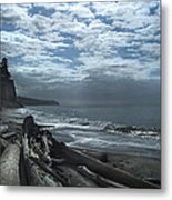 Ocean Beach Pacific Northwest Metal Print