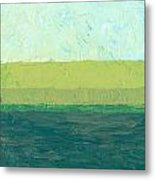Ocean Blue And Green Metal Print