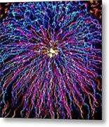 Ocean City Fireworks Metal Print by Lisa Merman Bender