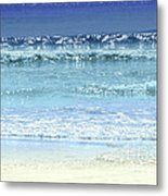 Ocean Colors Abstract Metal Print
