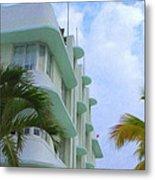 Ocean Drive Hotel Metal Print