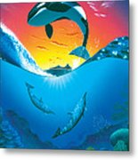 Ocean Freedom Metal Print
