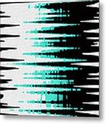 Ocean Gentle Waves Abstract Digital Painting Metal Print by Georgeta Blanaru