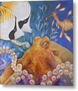 Ocean Hang Out Metal Print by Summer Celeste