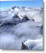Ocean Of Clouds Metal Print