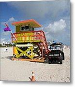 Ocean Rescue Miami Metal Print
