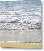 Ocean Shore With Sparkling Waves Metal Print