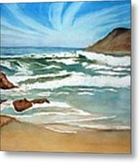 Ocean Side Metal Print by Rick Huotari