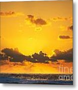 Ocean Sunrise Clouds Metal Print