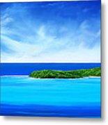 Ocean Tropical Island Metal Print