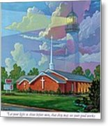 Ocean View Baptist Church Metal Print