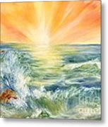 Ocean Waves IIi Metal Print by Summer Celeste