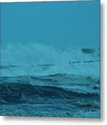 Ocean Waves Incoming Metal Print