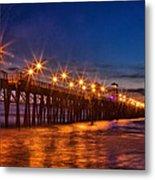 Oceanside Pier Evening Metal Print