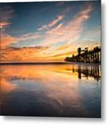 Oceanside Reflections 3 Metal Print
