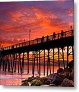 Oceanside Sunset 12 Metal Print