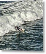 Oceanside Surfer 3 Metal Print