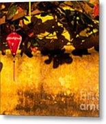 Ochre Wall Silk Lantern 01 Metal Print