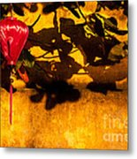 Ochre Wall Silk Lantern 02 Metal Print
