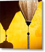 Ochre Wall Silk Lanterns  Metal Print